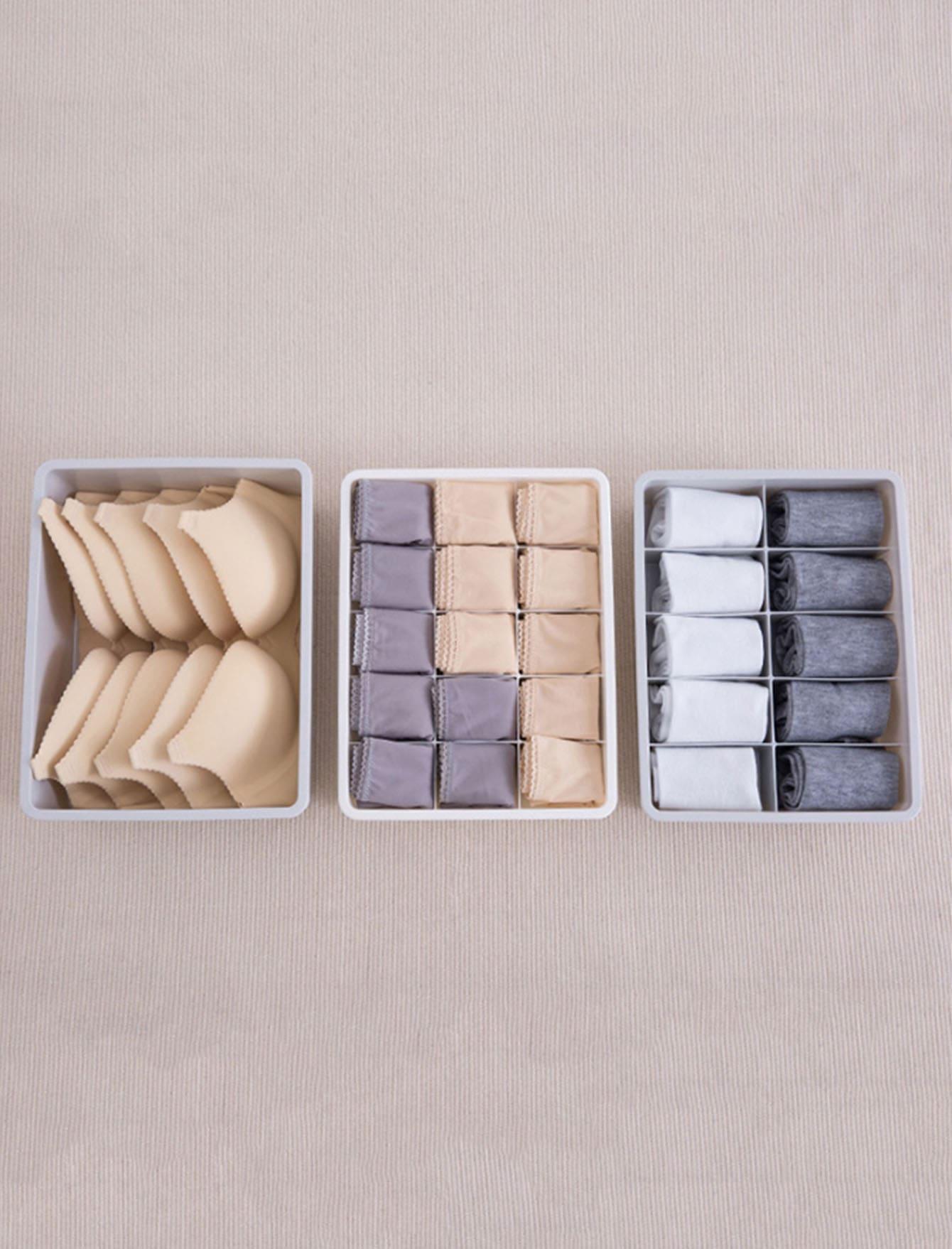 Купить Коробка для хранения нижнего белья 3 шт., null, SheIn