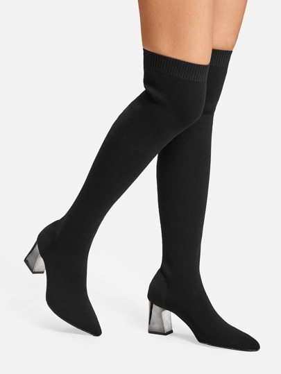 SheIn / Knee Length Sock Boots