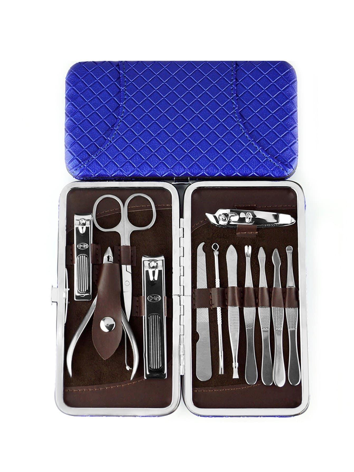 Купить Набор для ногтей из нержавеющей стали с корпусом 13 шт, null, SheIn
