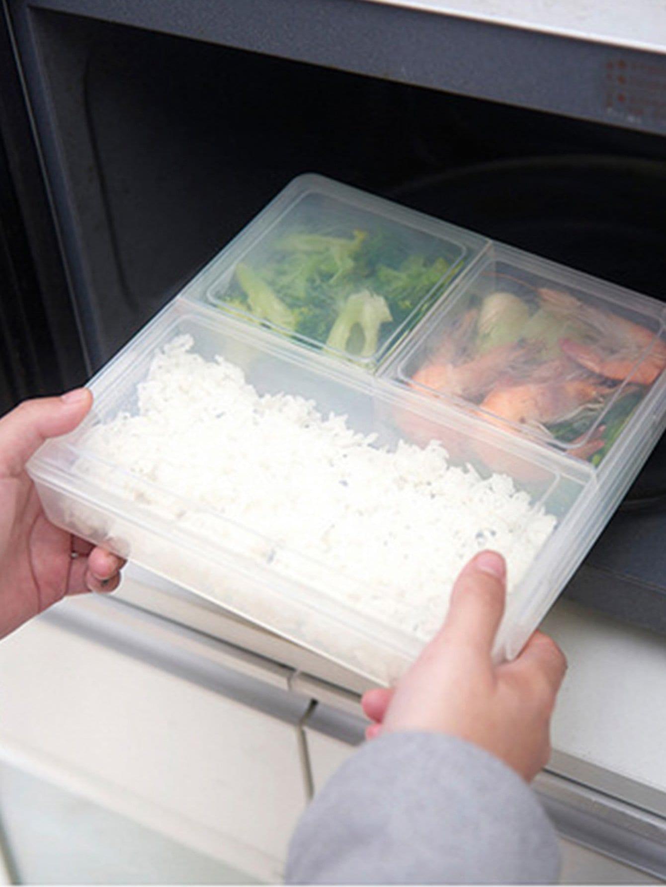 Купить Ящик для хранения пищевых продуктов с 3 отделения, null, SheIn