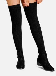 Black Business Casual Boots, size features are:Bust: ,Length: ,Sleeve Length: