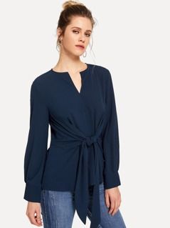 Knot Front Solid Top