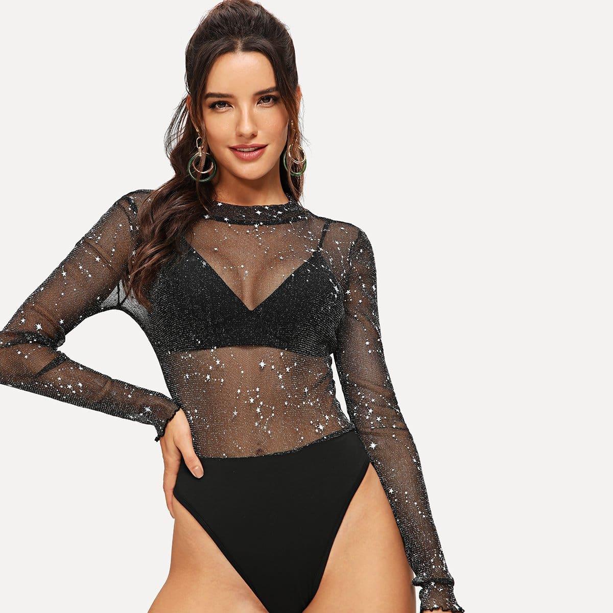 Zwart Sexy Bodysuits