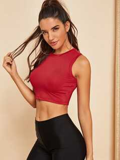 Solid Crop Shell Top