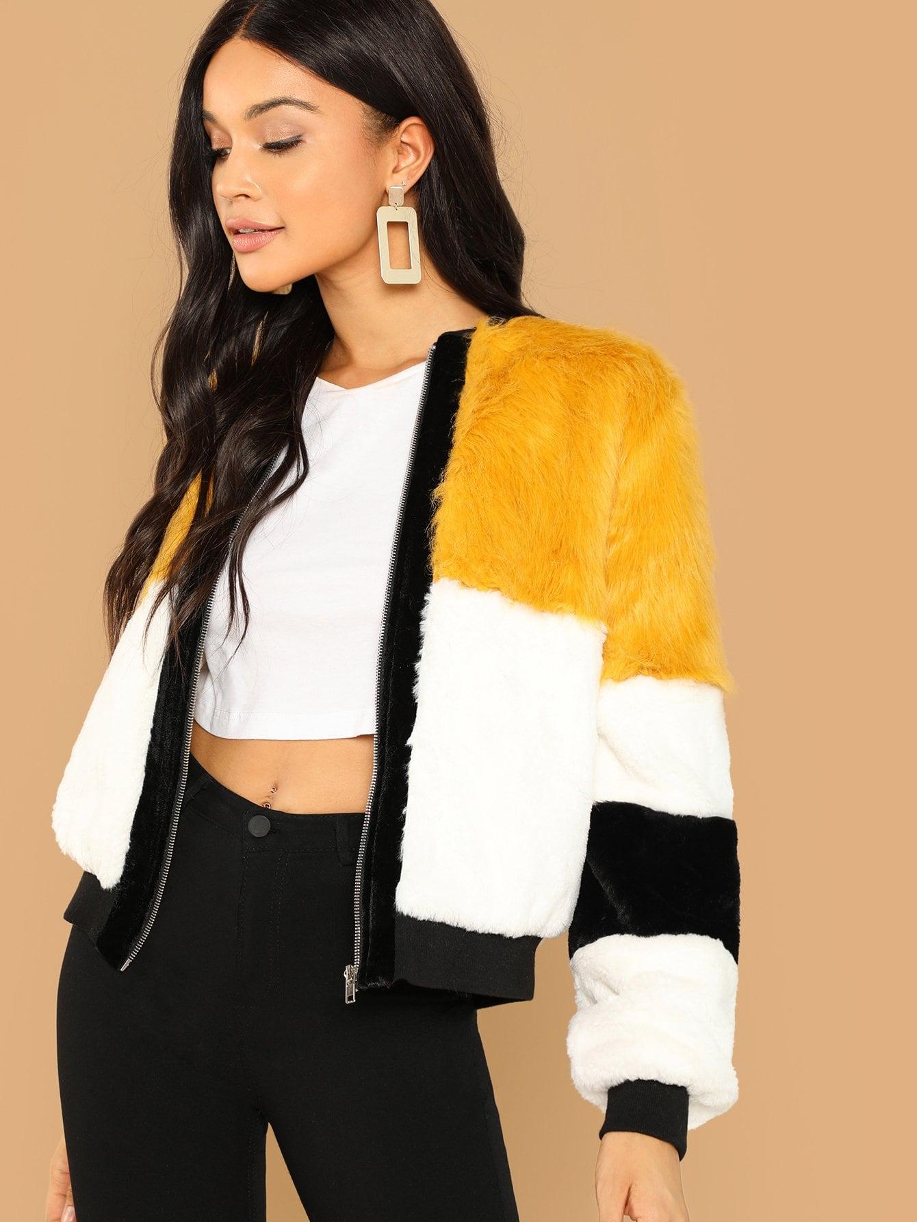 Купить Кроить и шить пальто из искусственного меха, Juliette, SheIn