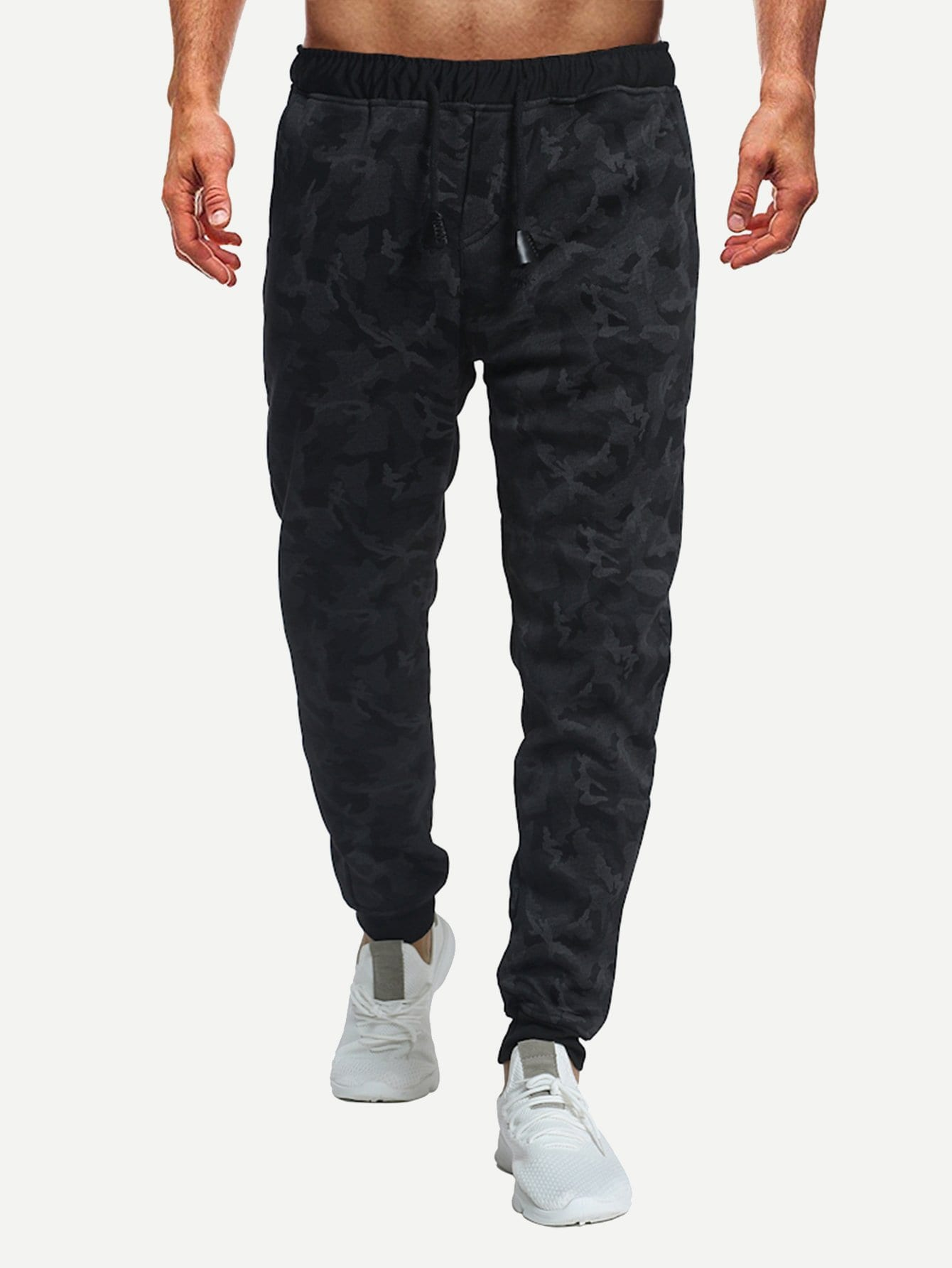 Купить Мужские камуфляжные брюки с басоном эластичным, null, SheIn