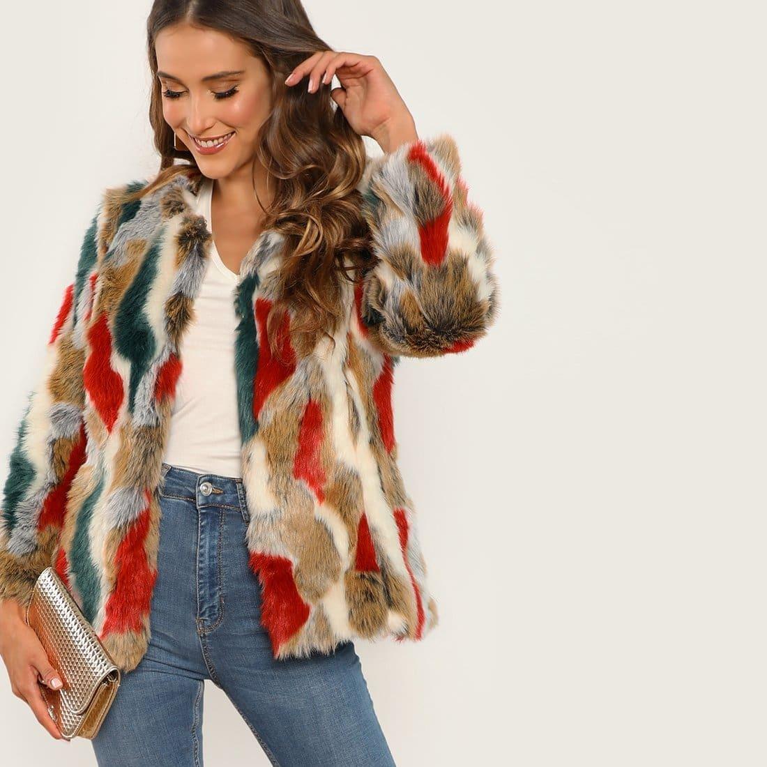 Veel kleurig Feest Jassen & truien