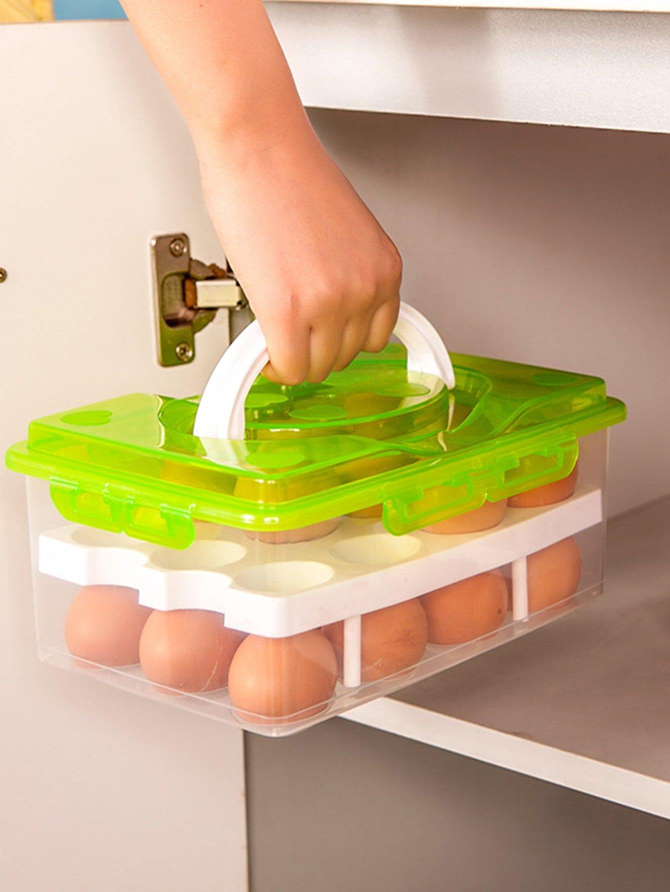 Купить Двойной слои яйцо ящик для хранения, null, SheIn