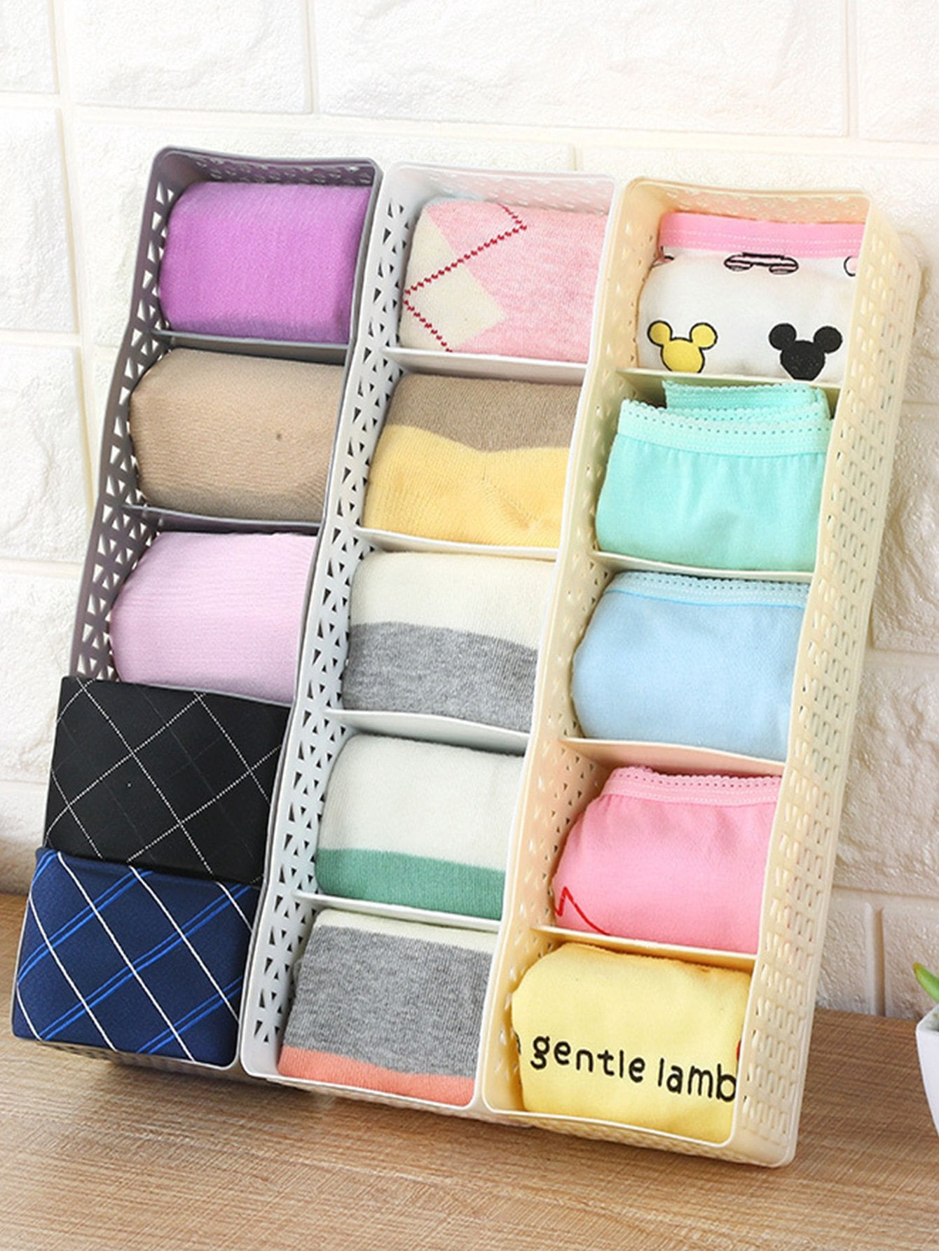 Купить Случайная цветная 5 отсек сумка для хранения, null, SheIn