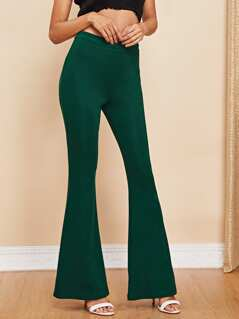 Solid Flare Pants