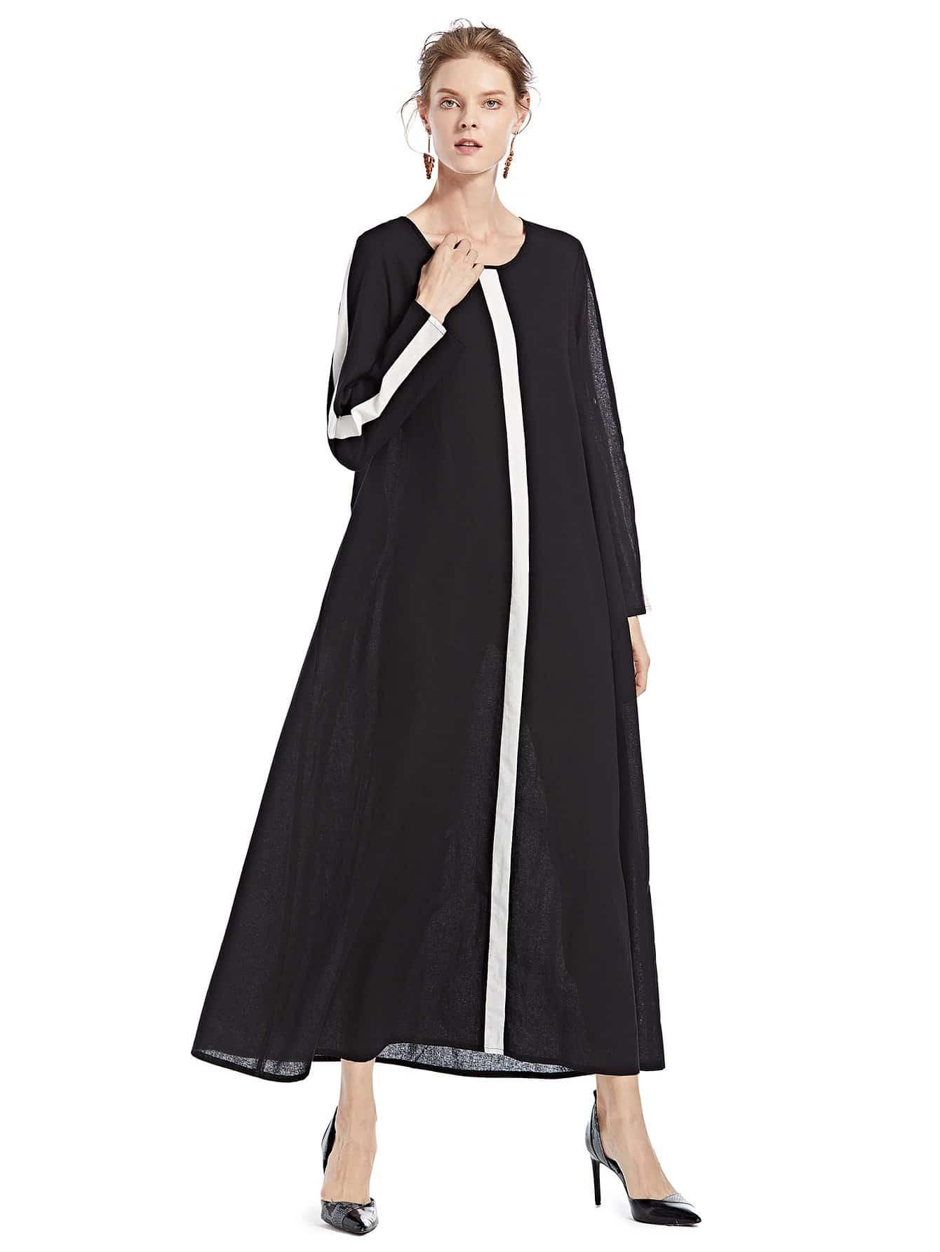 Купить Платье с веерообразным воротником, null, SheIn