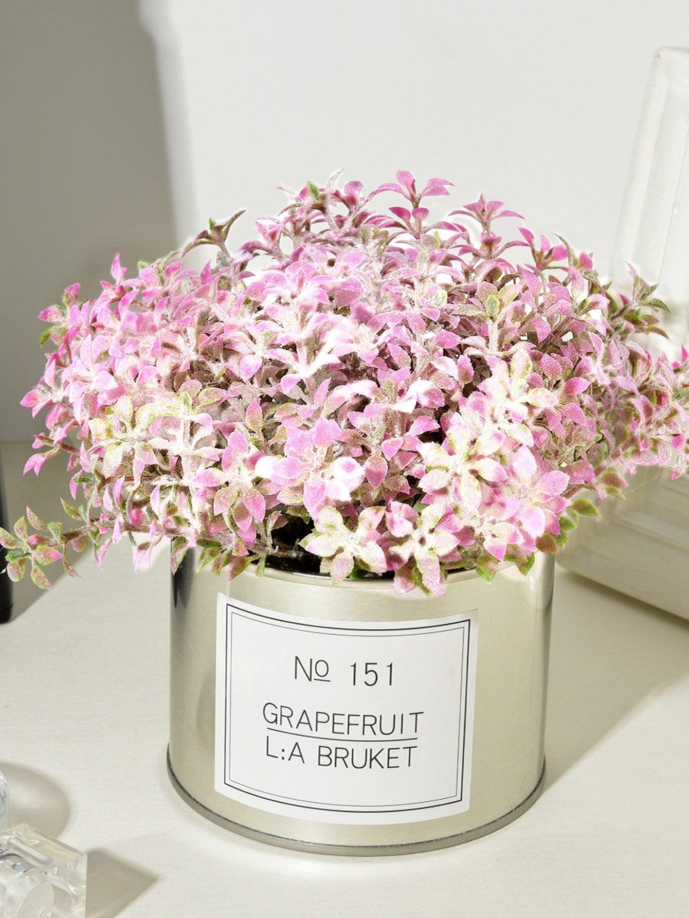 Купить Искусственный цветок 8 шт ветвей с железным горшком, null, SheIn