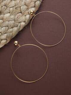 Thin Dainty Large Gold Hoop Earrings