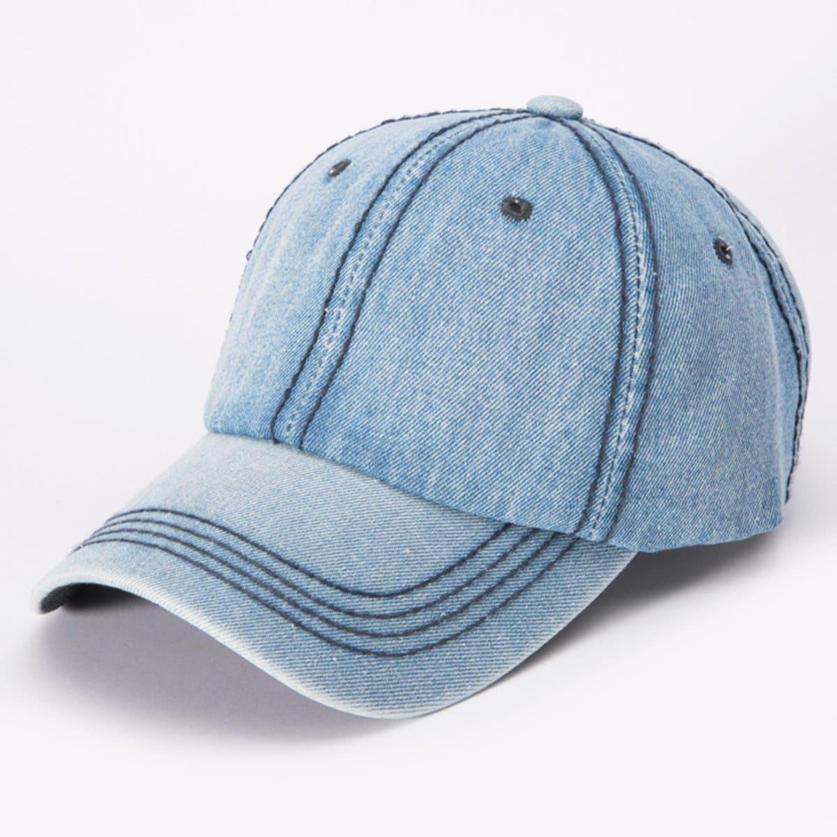 Для мужчин джинсовые Бейсбол Кепки от SHEIN