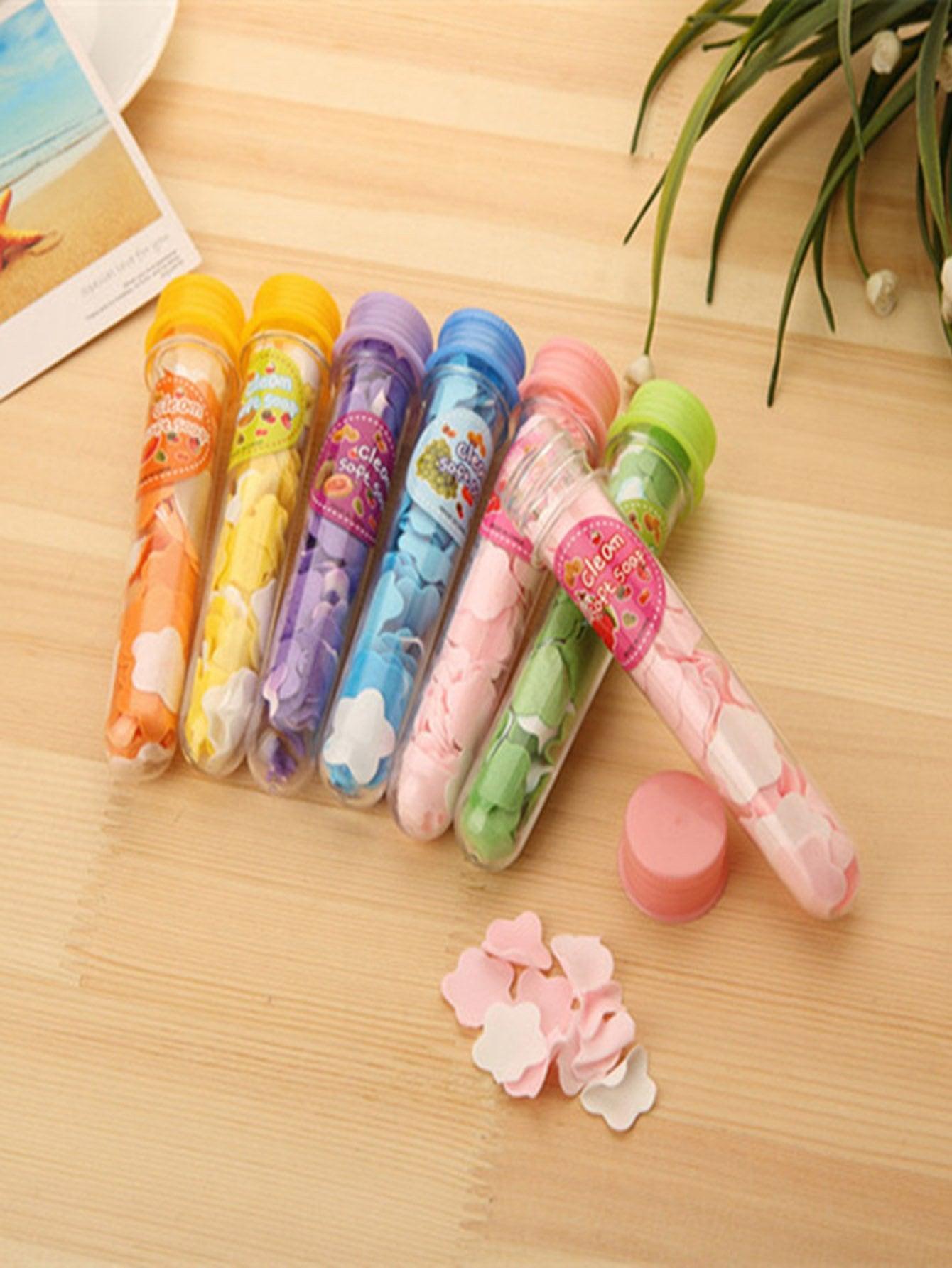 Купить Случайная цветная портативная мыльная бумага 6 шт., null, SheIn