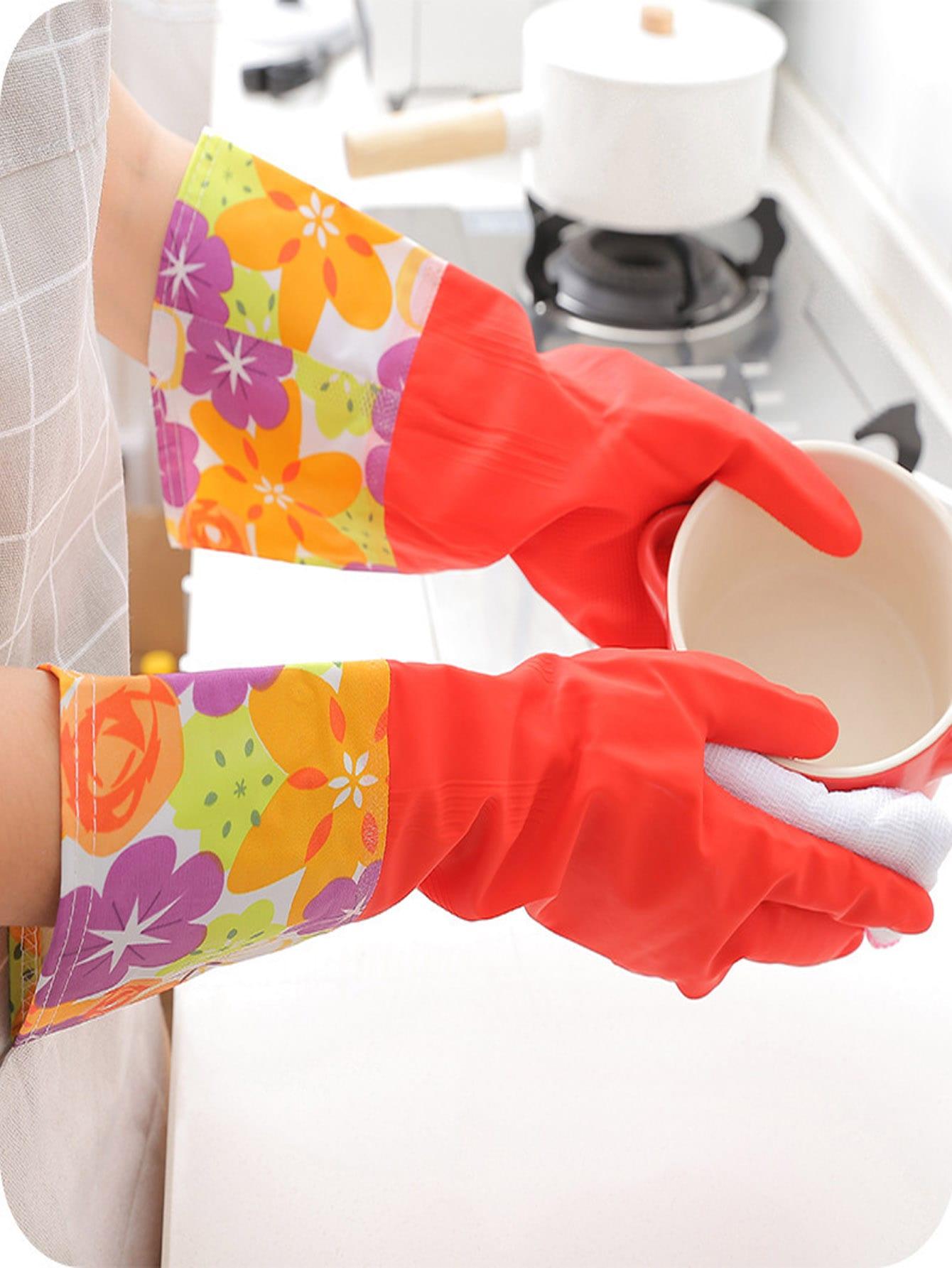 Купить Чистящие перчатки для домашней работы 1 пара, null, SheIn