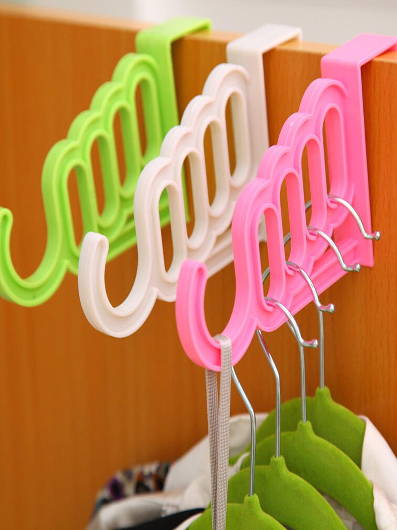 Купить Случайный цветной вешалка для нескольких отверстий 1 шт., null, SheIn