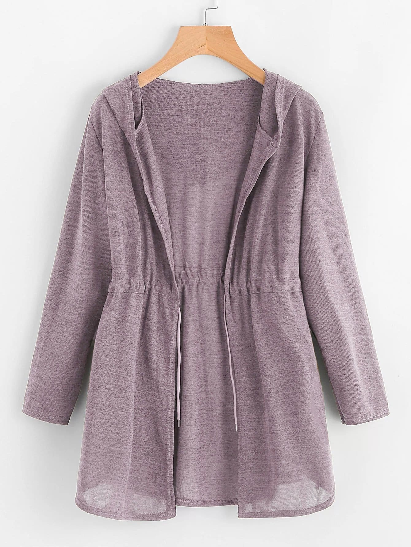 Купить Большое простое пальто с капюшоном и кулиской, null, SheIn