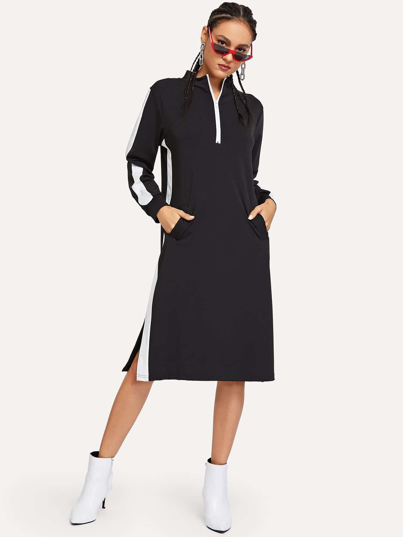 Фото - Кроить и шить платье с застёжкой молния от SheIn черного цвета