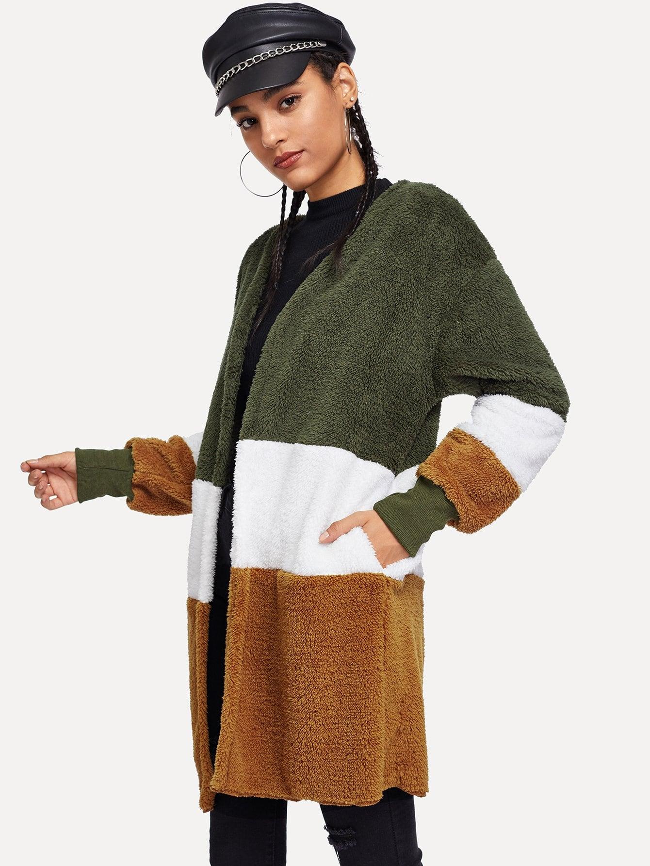 Фото - Кроить и шить куртка тедди от SheIn цвет многоцветный