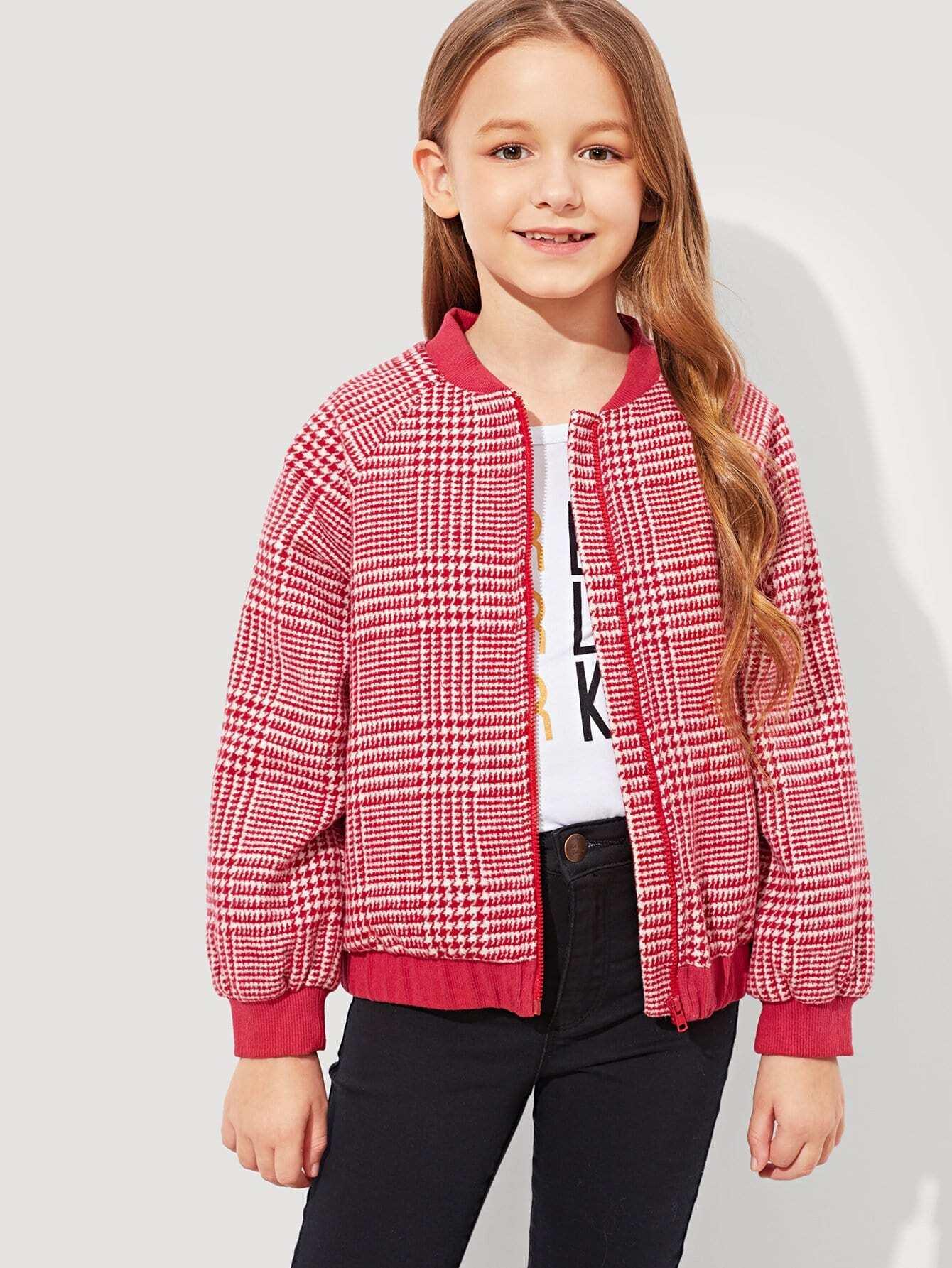 Купить Для девочек Хаундстут куртка на молнии, Sashab, SheIn