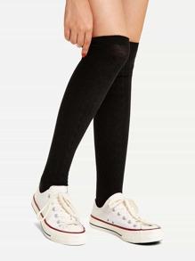 Black Casual Plain Socks & Tights, size features are:Bust: ,Length: ,Sleeve Length:
