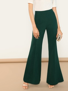 Flared Pants With Center Seam Detail