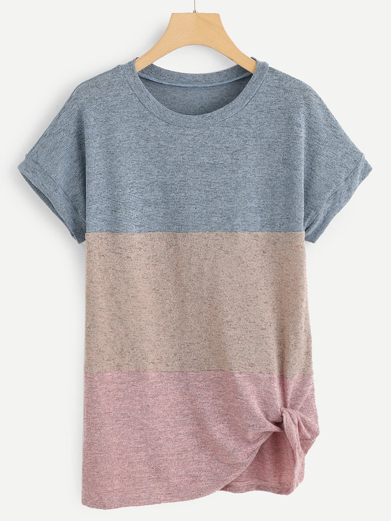 Фото - Контрастная футболка от SheIn цвет многихцветный