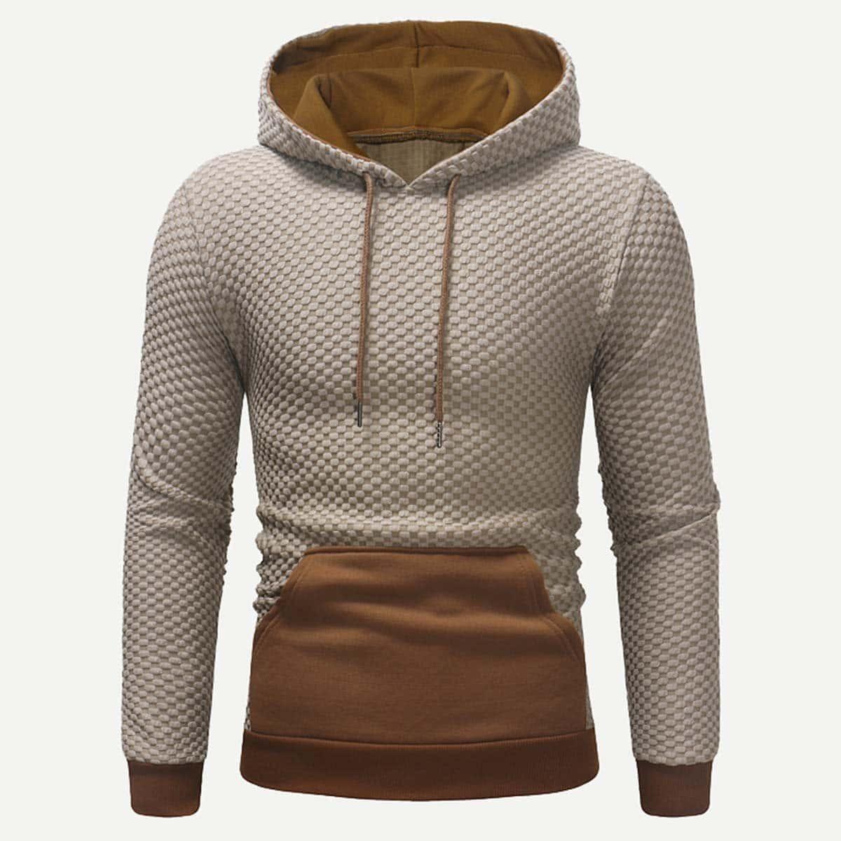Veel kleurig Casual Kleurblok Sweatshirts voor heren