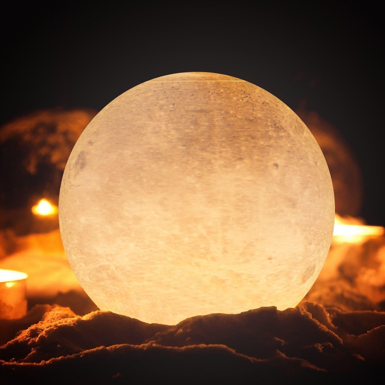 Maanvormige tafellamp 45V