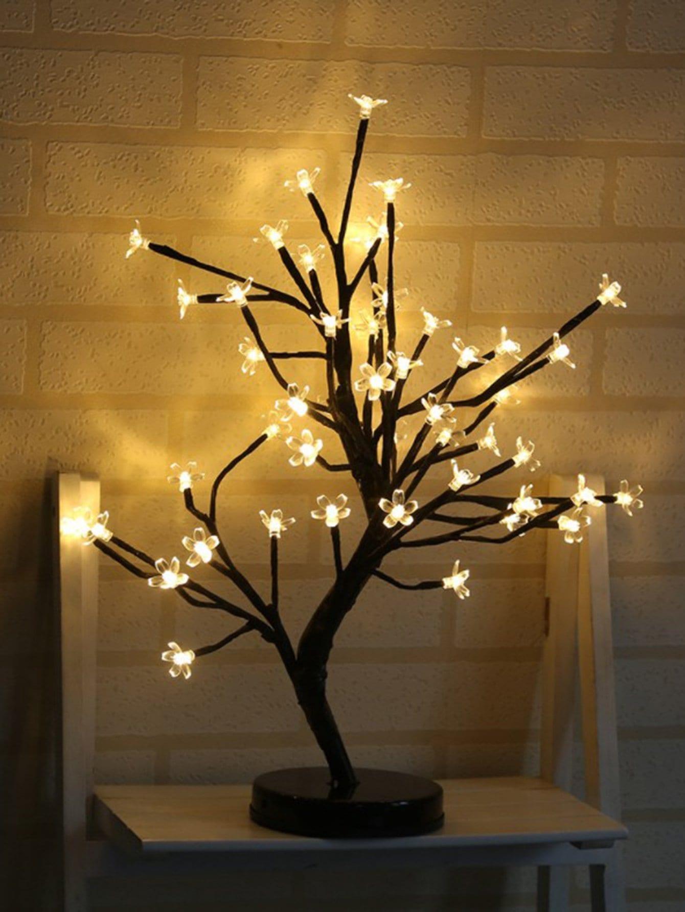 Купить 20шт.дерево Форма Настольная лампа 12V, null, SheIn