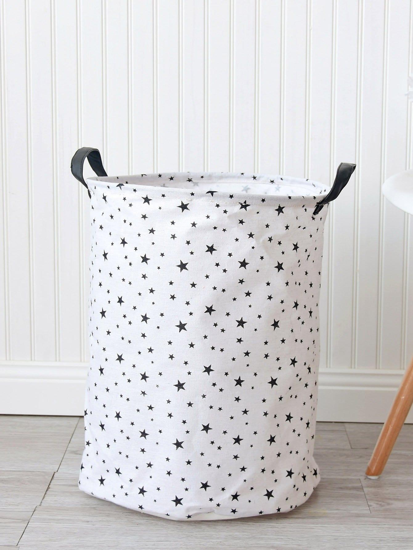 Купить Круглая корзина для хранения с принтом звезды, null, SheIn