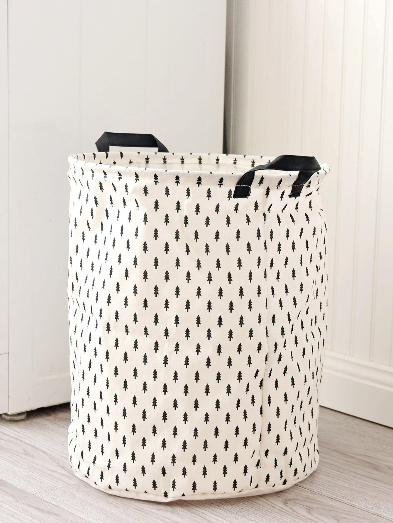 Купить Круглая корзина для хранения с принтом дерева, null, SheIn