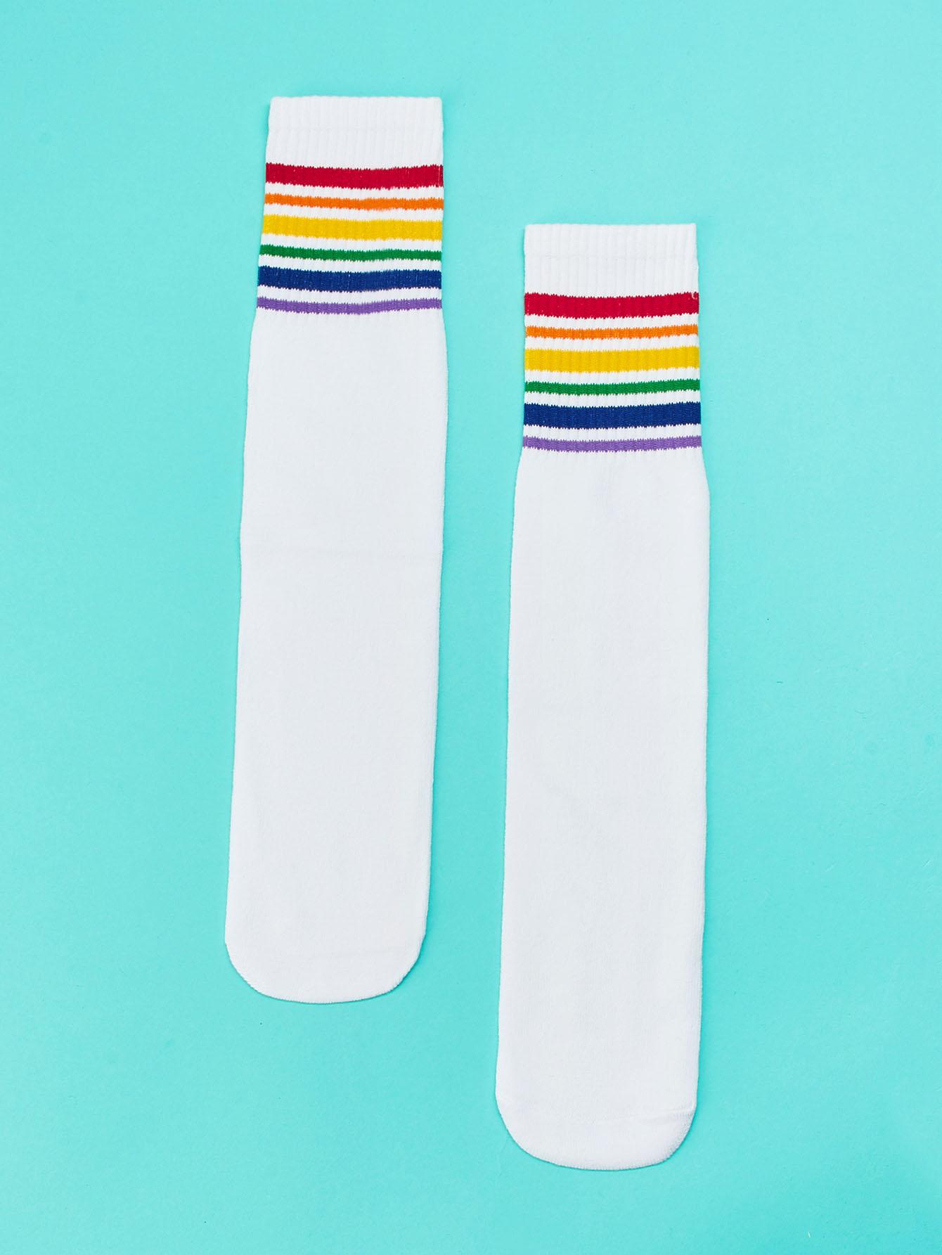 Купить Носки и полосатый подол для детей 1 пара, null, SheIn