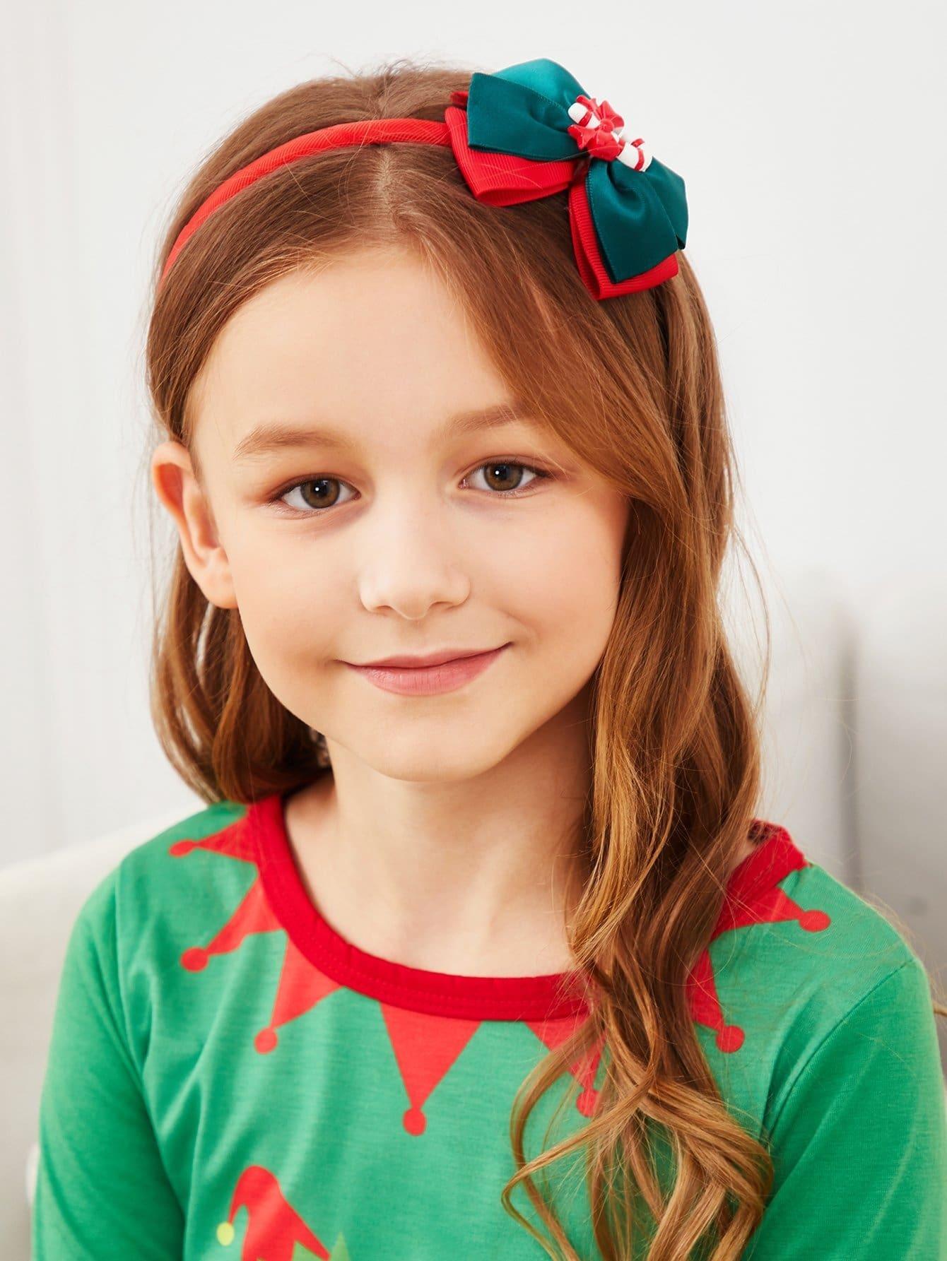 5шт.Рождественские девочки аксессуары для волос набор, null, SheIn  - купить со скидкой