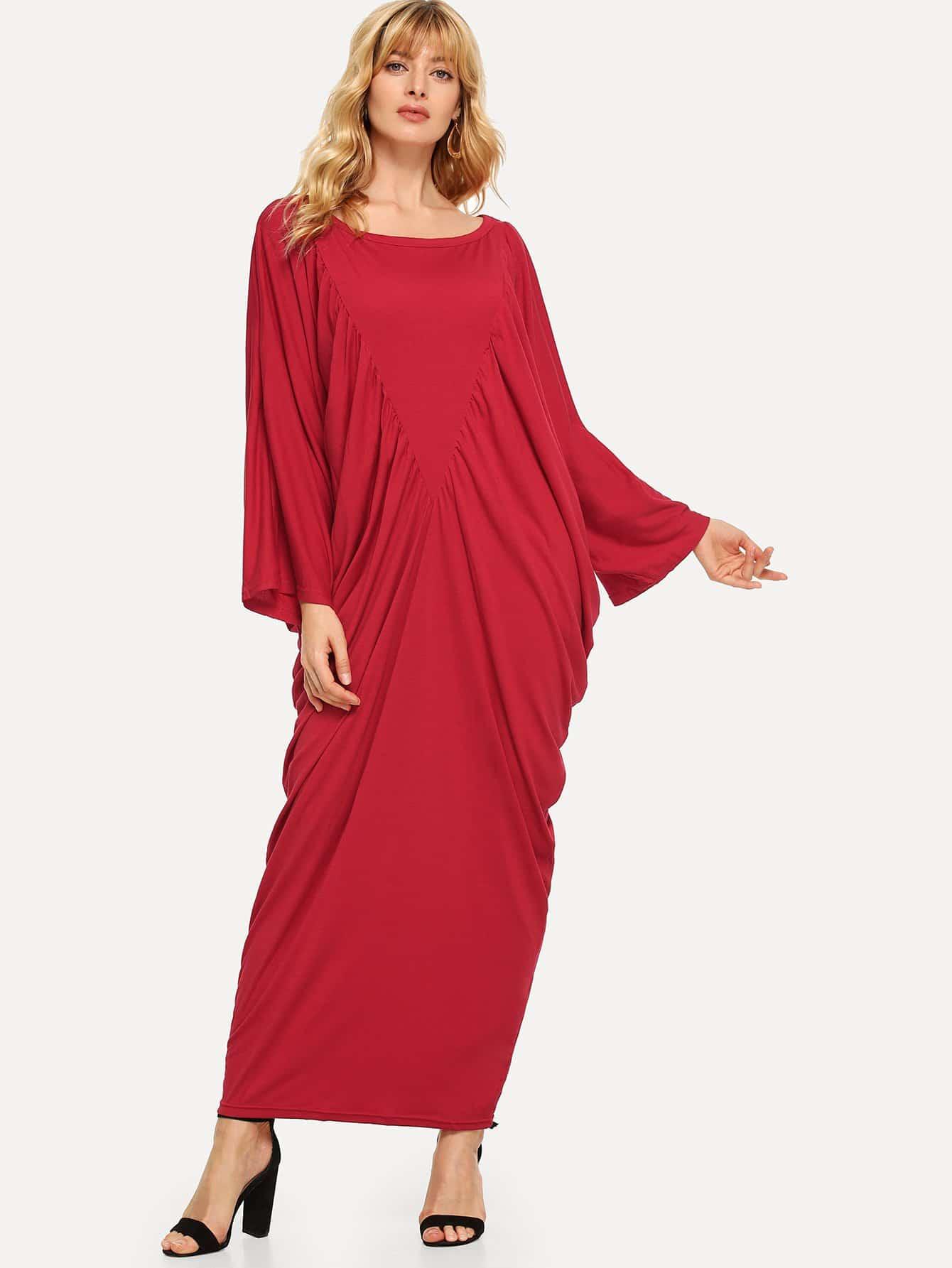 Купить Твердое платье из драпированного кокона, Masha, SheIn