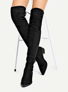 Black Comfort Winter Boots, size features are:Bust: ,Length: ,Sleeve Length:
