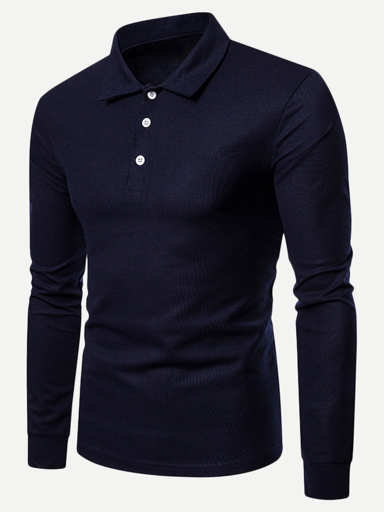 Фото - Мужская одноцветная поло футболка от SheIn черного цвета