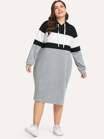 grande variété de modèles prix plus bas avec moitié prix Robe sweat-shirt tricolore