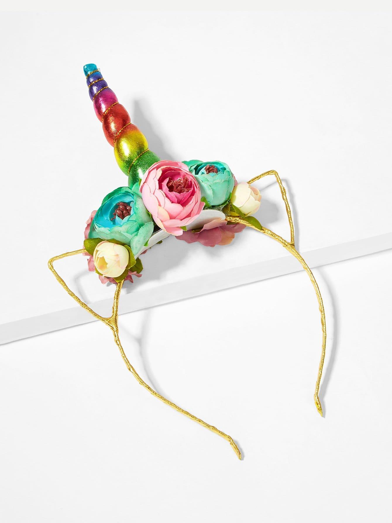 Купить Бандана с украшением цветов для малышских девочек, null, SheIn