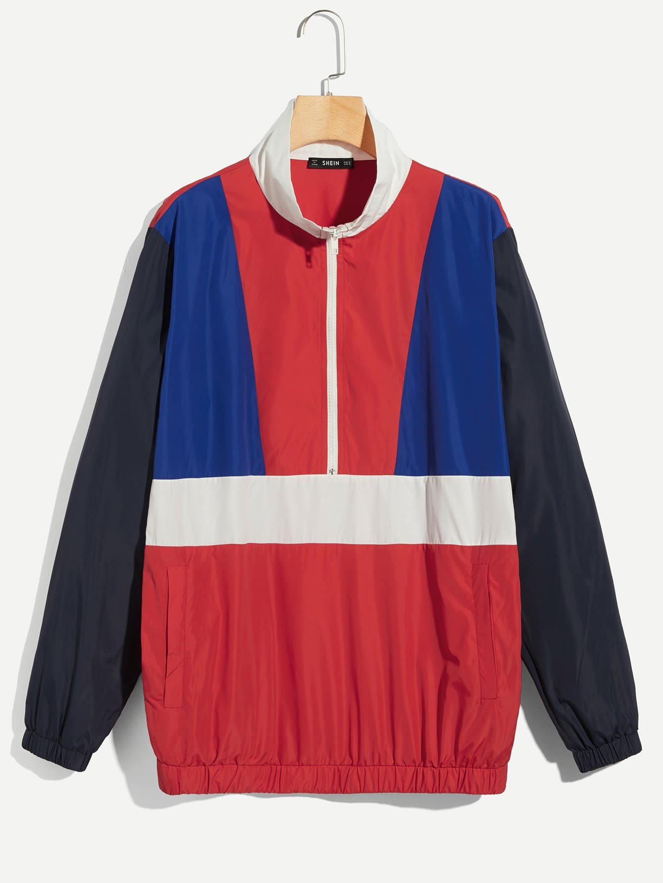 Фото - Для мужчин контрастная куртка на молнии от SheIn цвет многоцветный