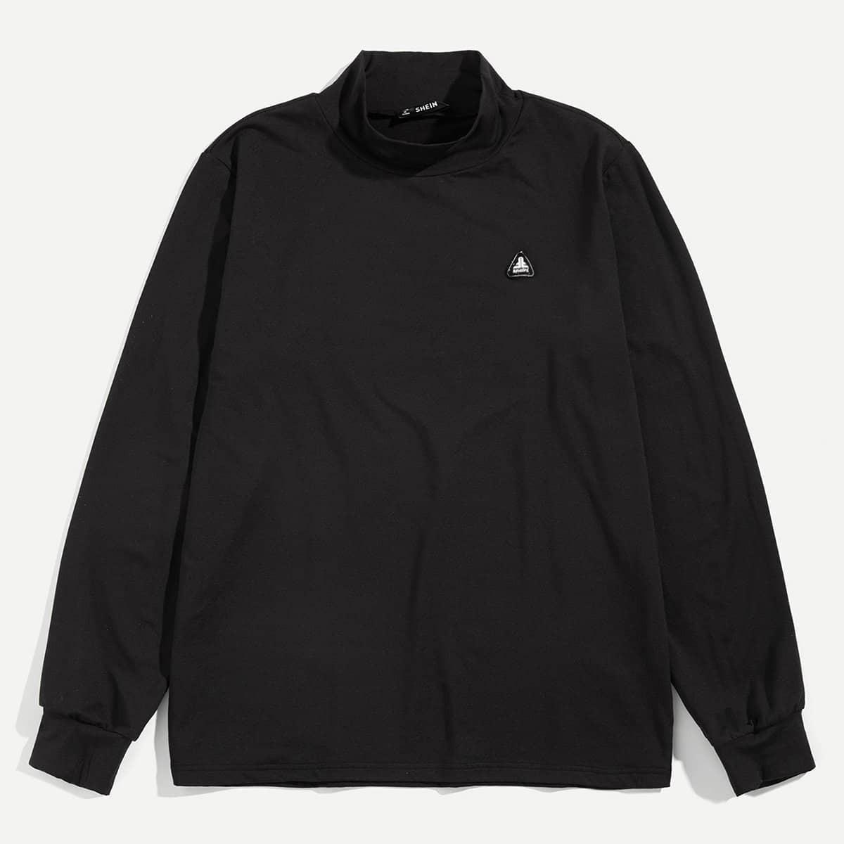 Zwart Casual Patched Sweatshirts voor heren