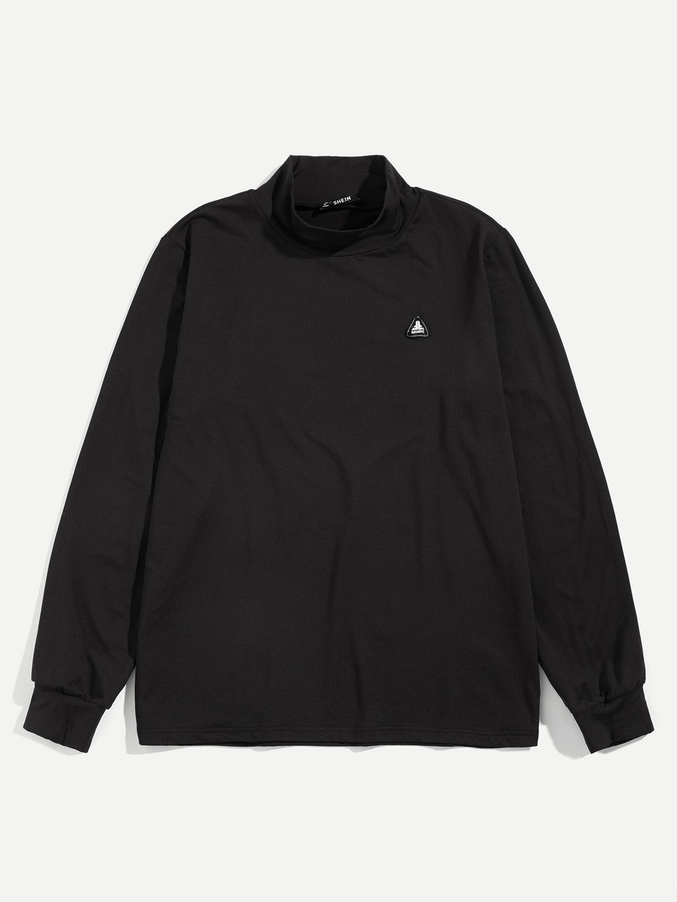 Купить Для мужчин Одноцветный пуловер с ложным вырезом, null, SheIn