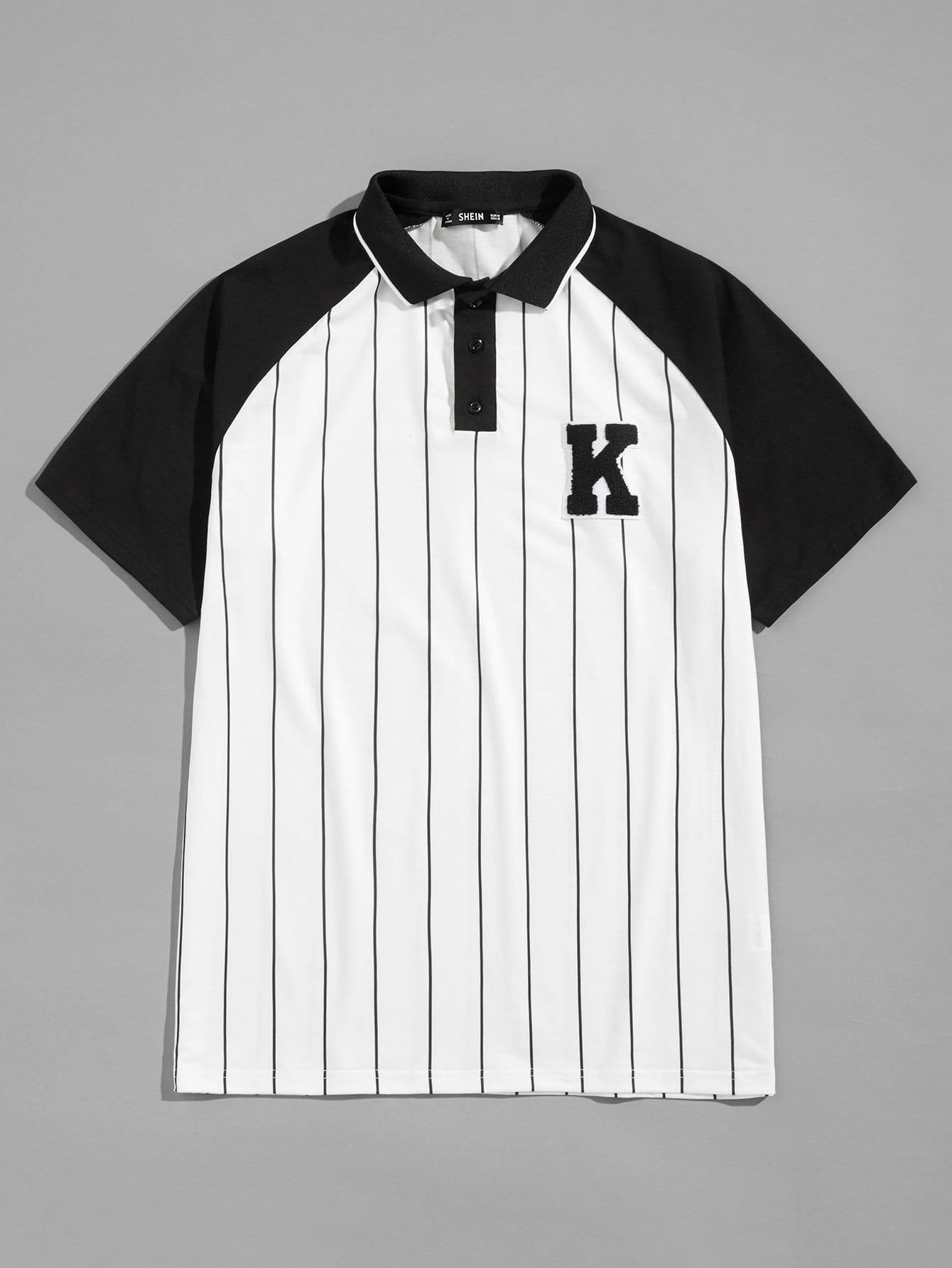 Купить Для мужчин контрастная поло рубашка в полоску, null, SheIn