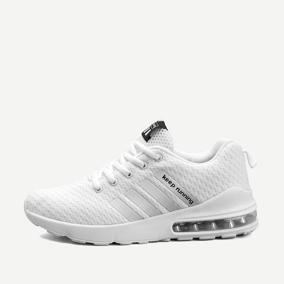 Wit Sporten Kant Tekst Heren sneakers