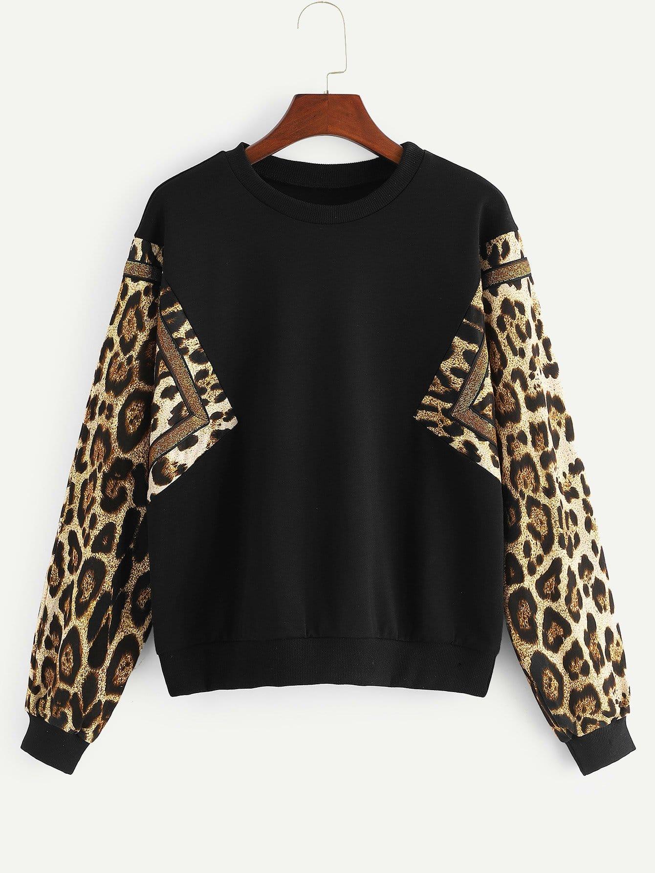 Фото - Леопардовый свитшот от SheIn черного цвета