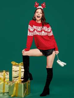 Christmas Two Tone Sweater