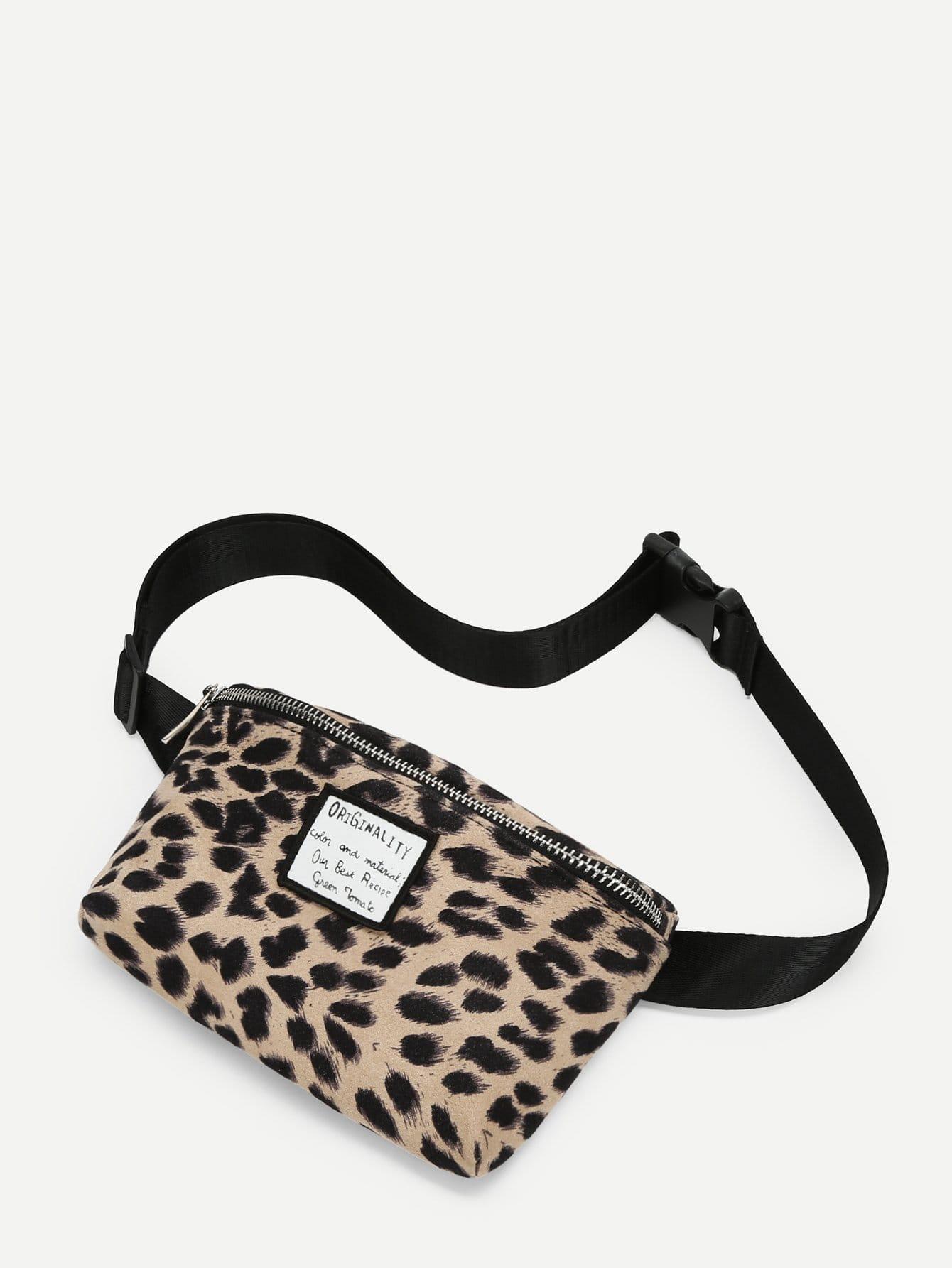 Купить Леопардовый мешок талии, null, SheIn