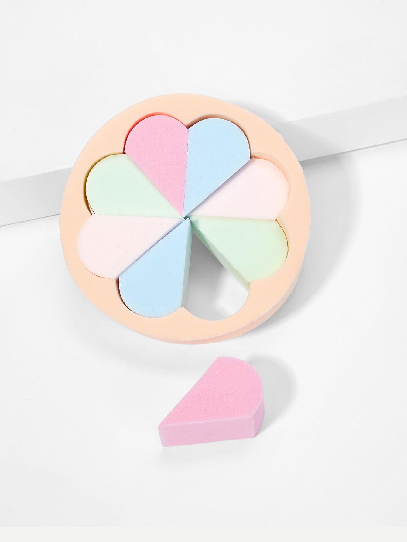 Купить Случайтная цветная круглая губка для макияжа 1 шт, null, SheIn