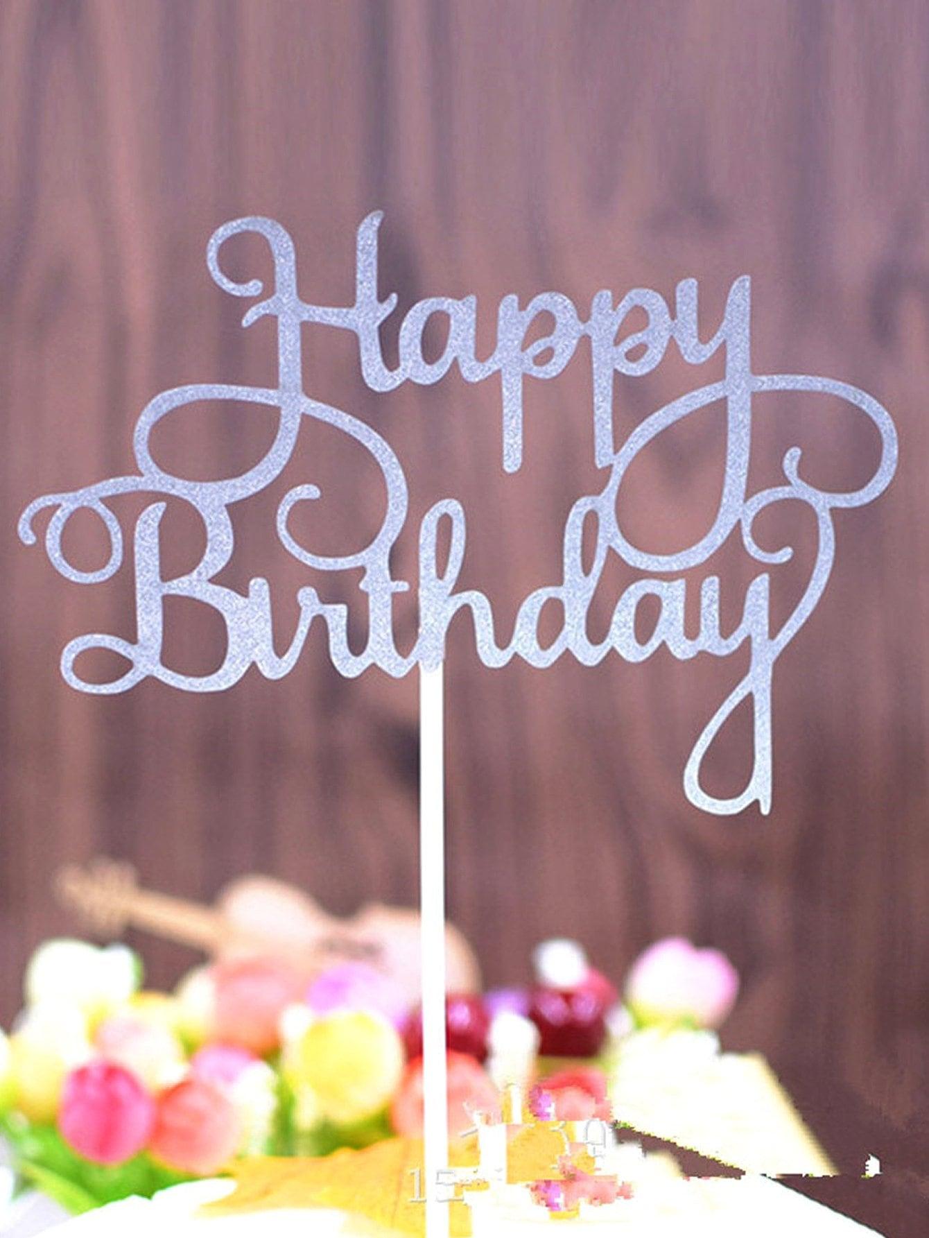 Топпер торт флаги с днем рождения 5 шт, null, SheIn  - купить со скидкой